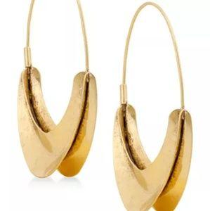 Lucky Brand Gold Tone Hoop Earrings